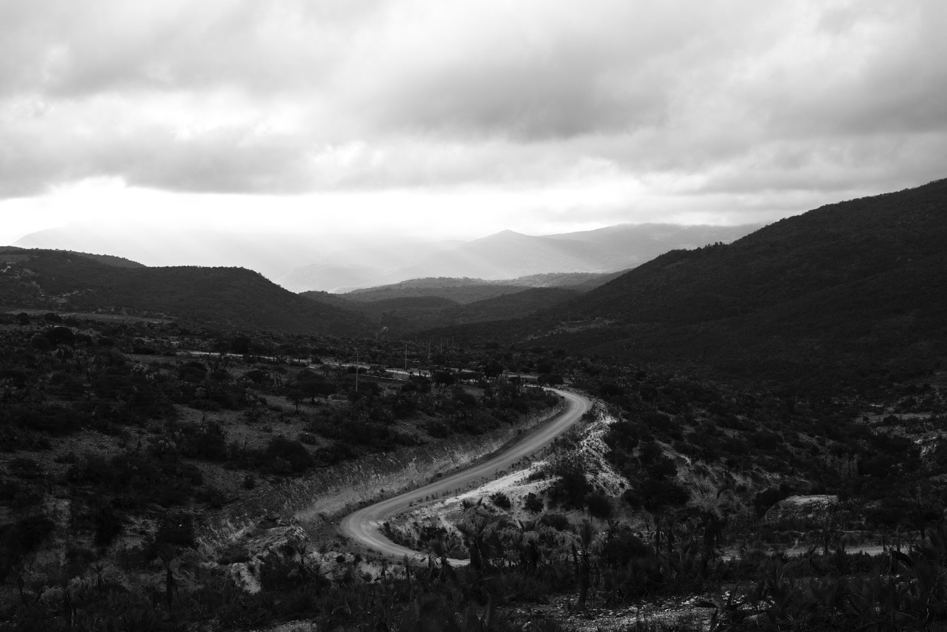 Road in the mountains of Oaxaca