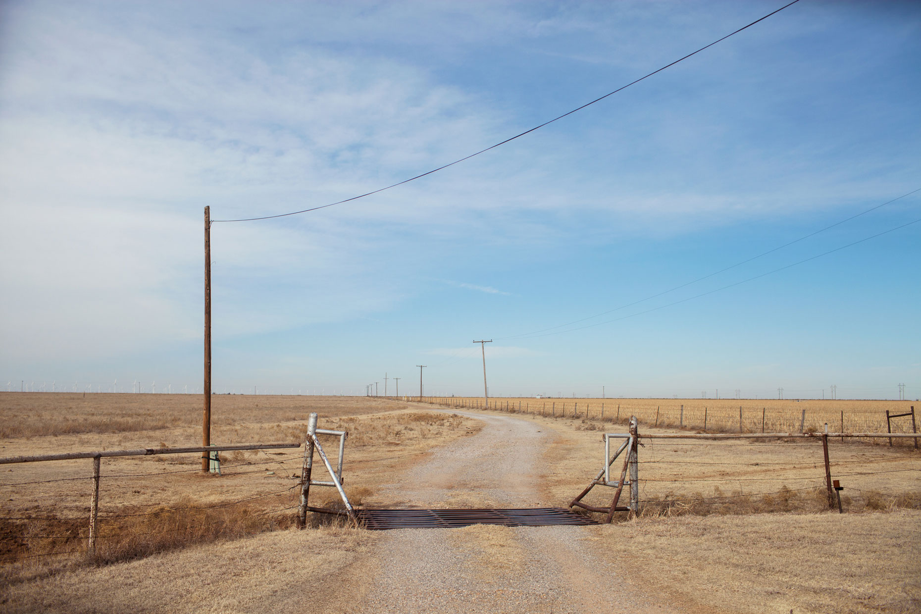 Ranch road in the Texas Panhandle