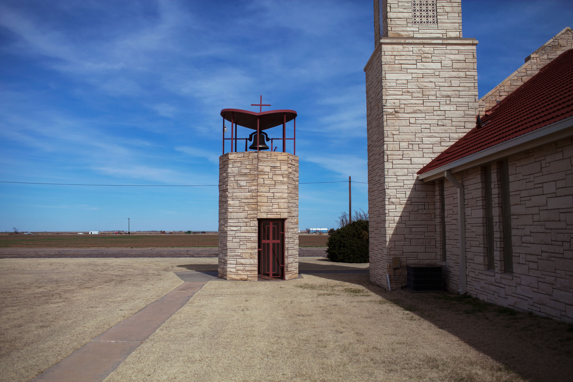 Sacred Heart Catholic Church in White Deer in the Texas Panhandle